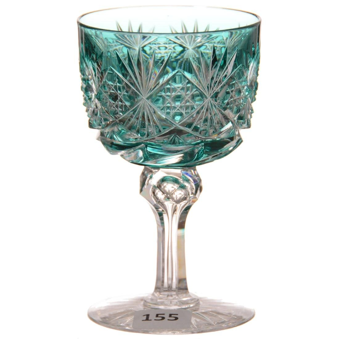 Turquoise Cut to Clear Wine - ABCG