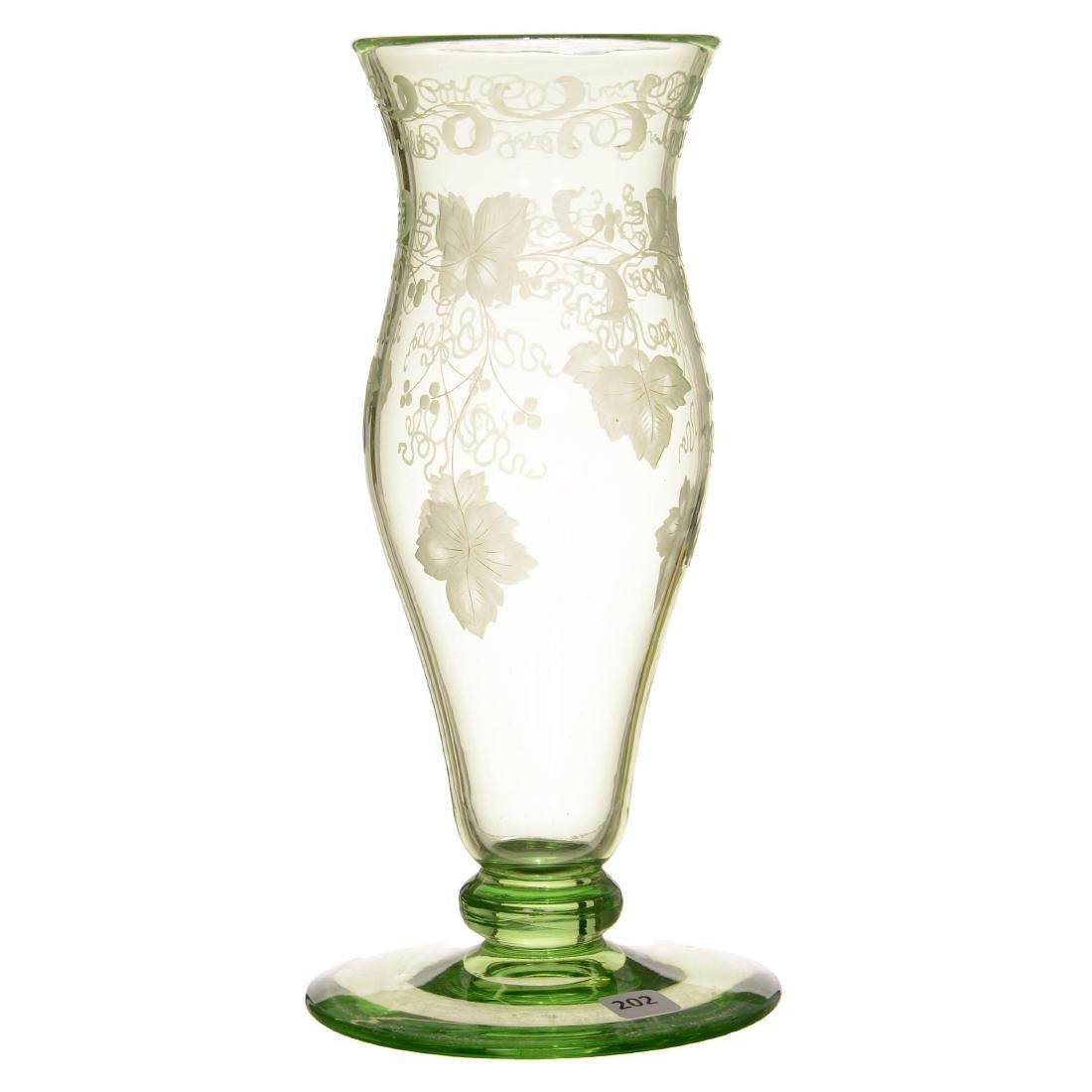Solid Apple Green Pedestal Vase - ABCG