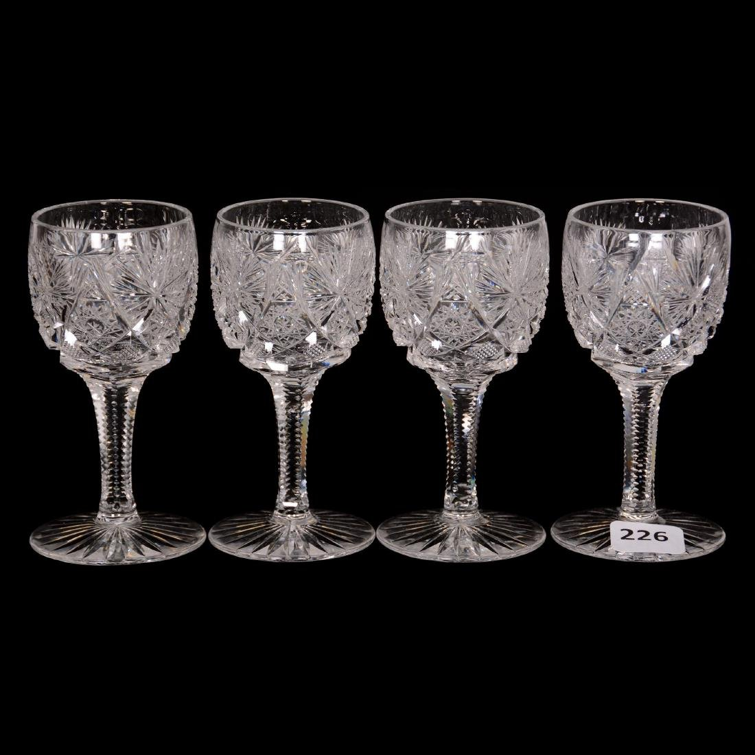 (4) Wine Glasses - ABCG