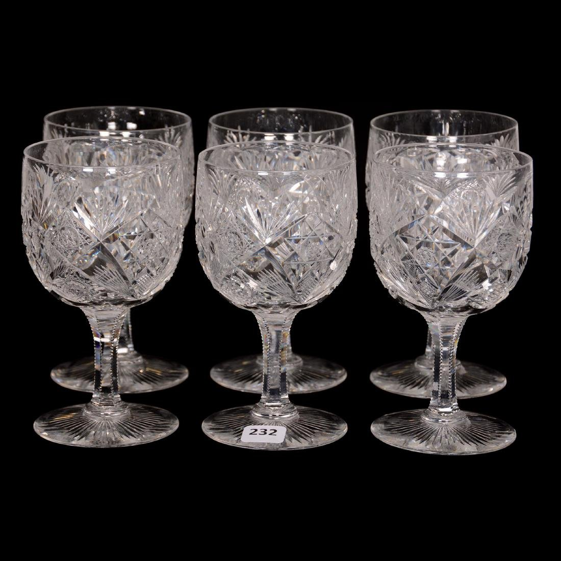 (6) Water Goblets - ABCG