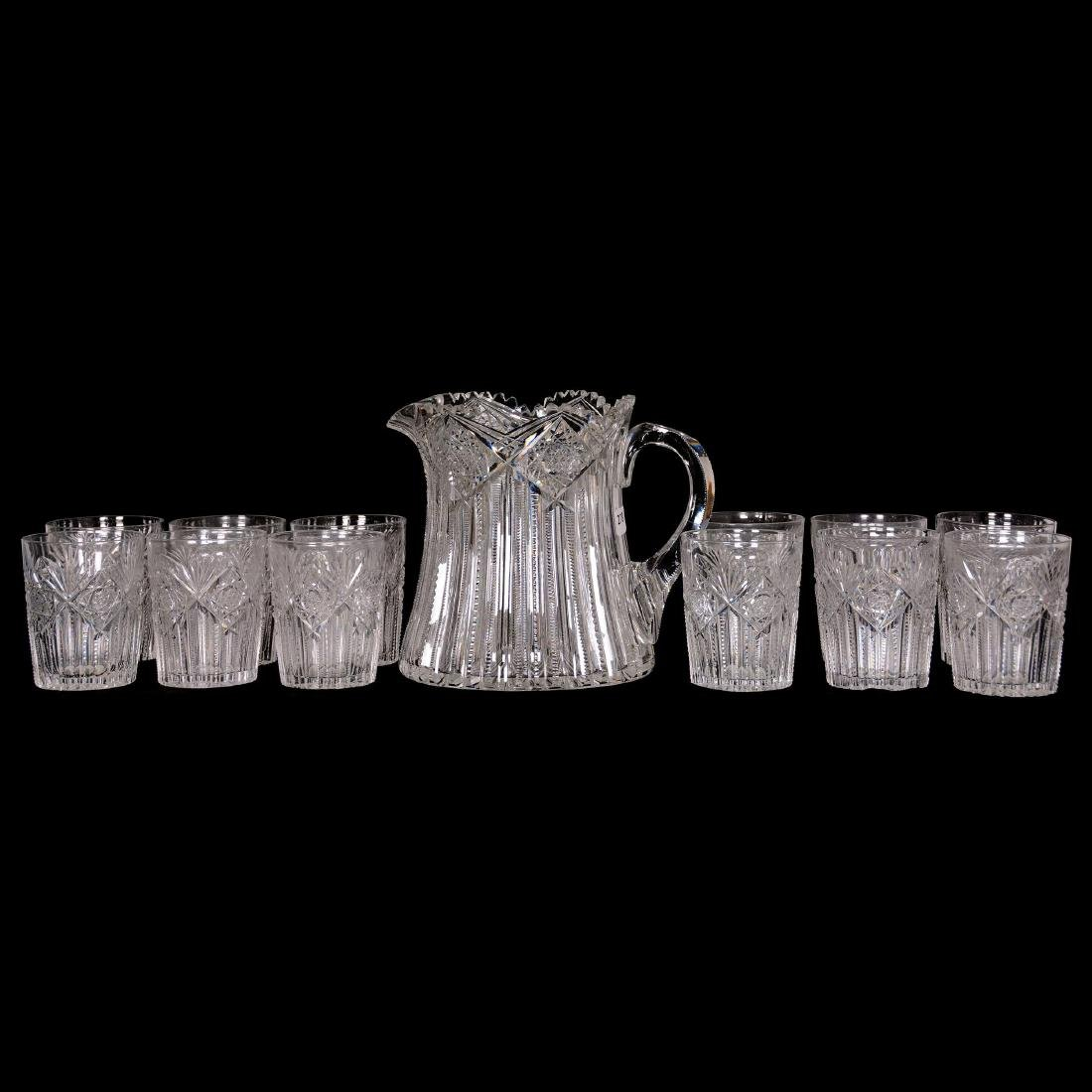 Pitcher and (12) Tumblers - ABCG