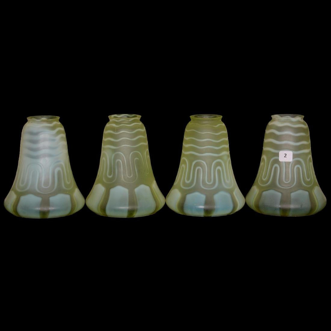 (4) Art Glass Lamp Shades