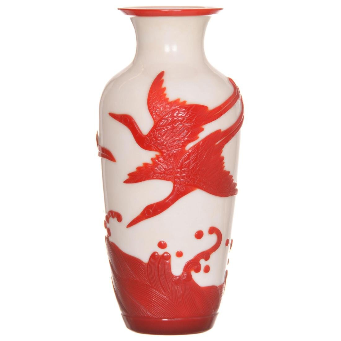 Peking Cameo Art Glass Vase