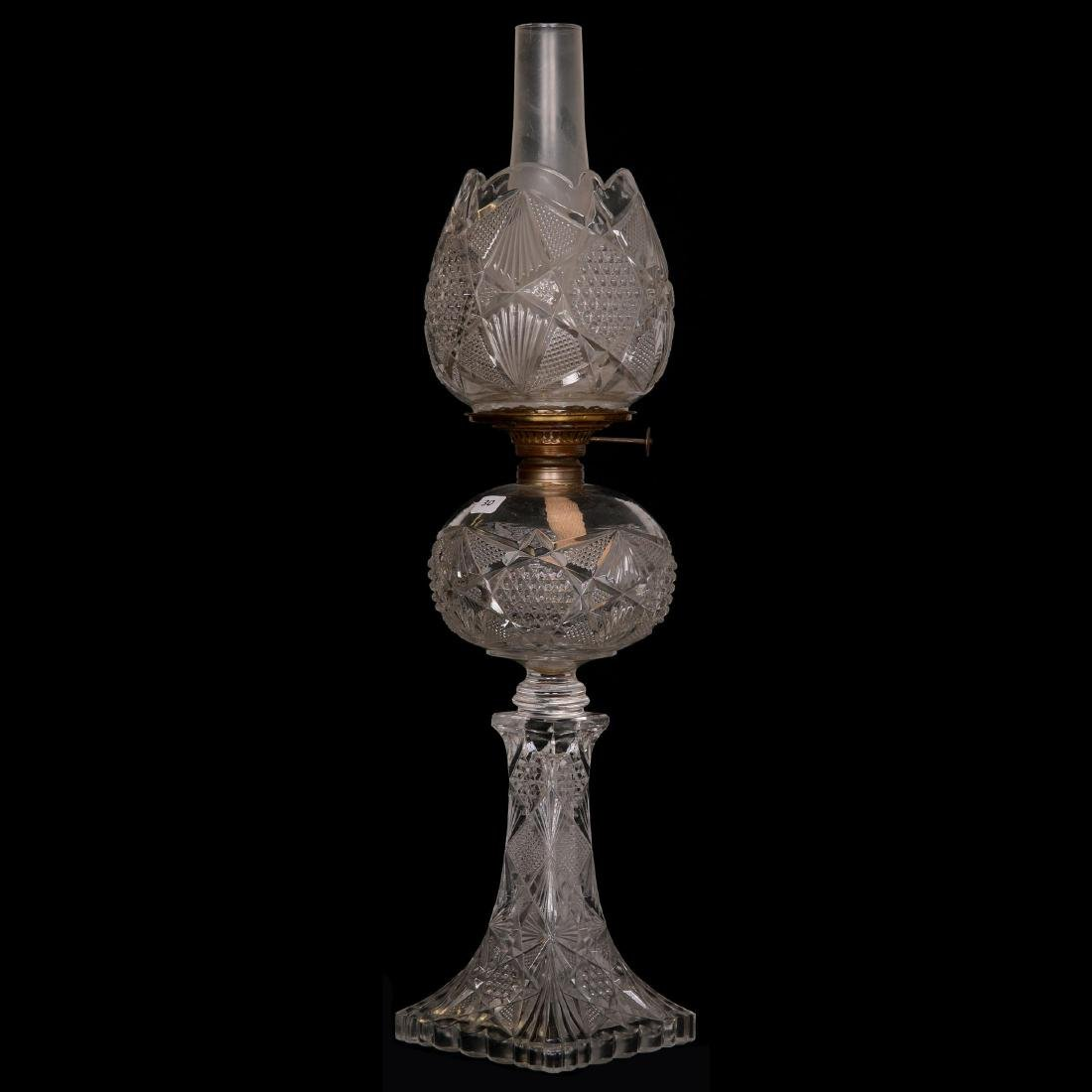Early Pattern Glass Banquet Lamp