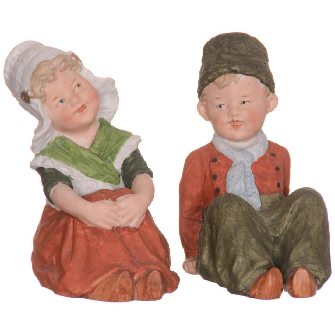 Pair Heubach Bisque Figurines