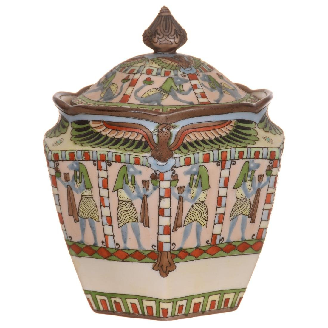 Nippon Six-Sided Biscuit Jar