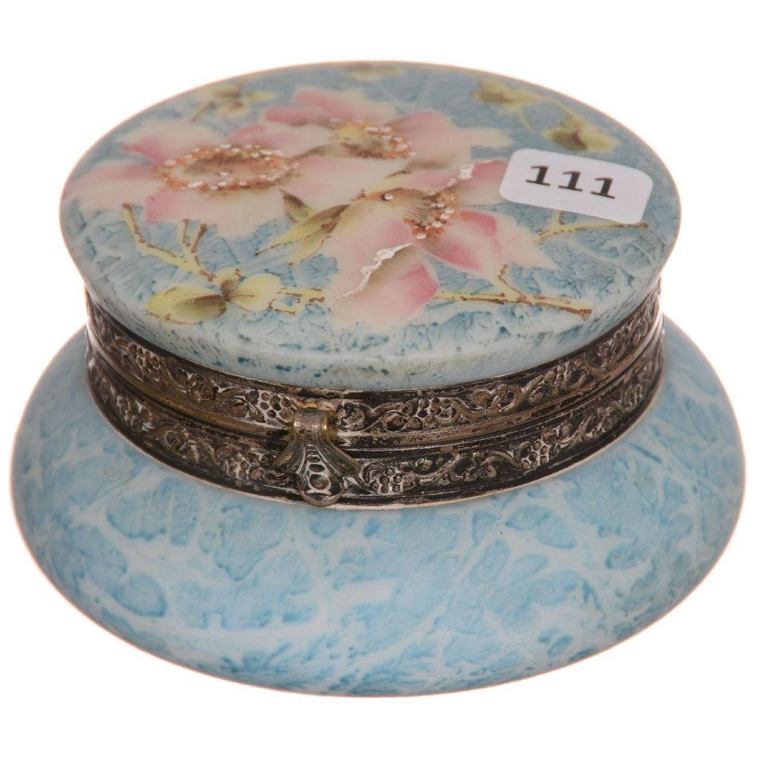 Kelva Round Hinged Jewel Box