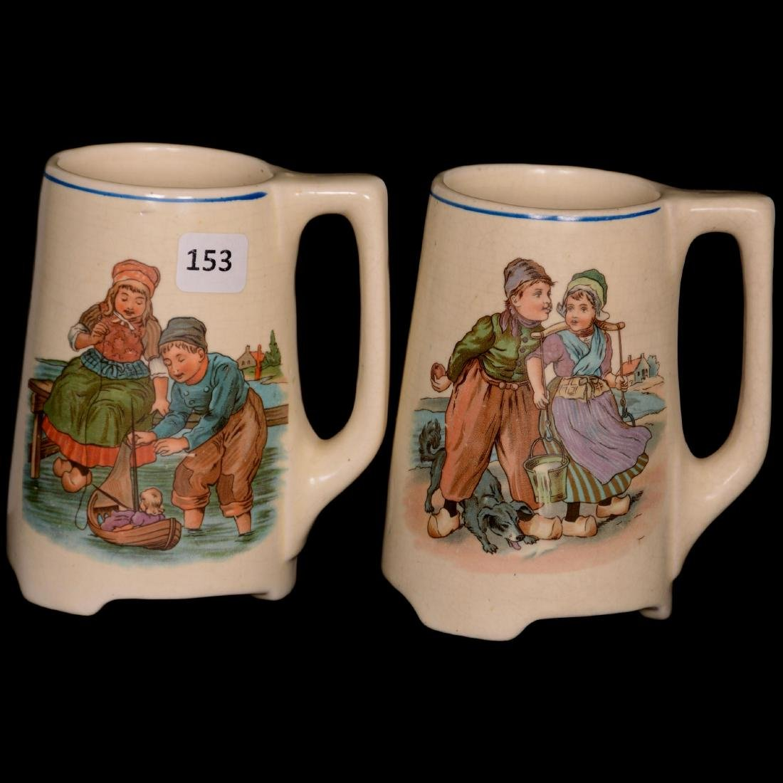 (2) Roseville Art Pottery Mugs