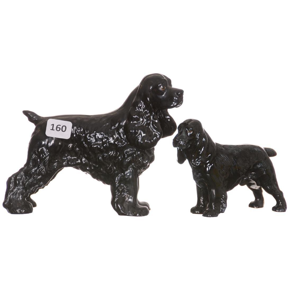 (2) Dog Figurines