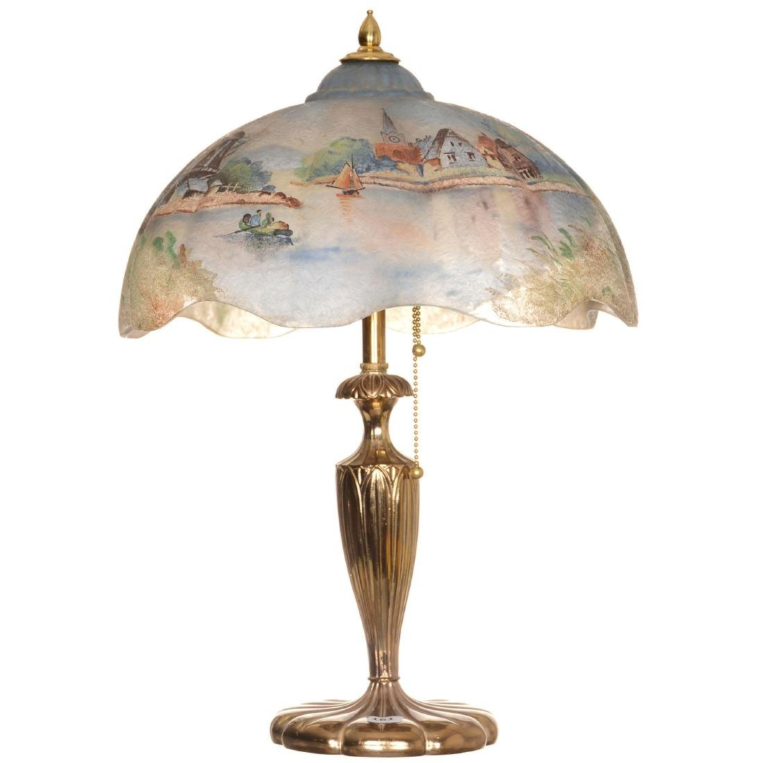 Table Lamp with Scenic Shade
