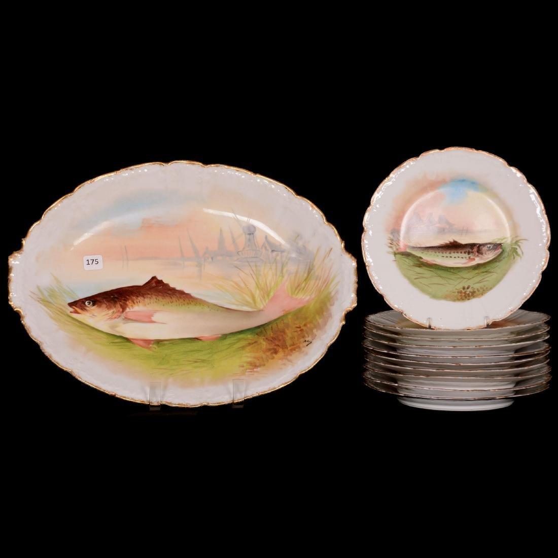 Limoges Fish Set