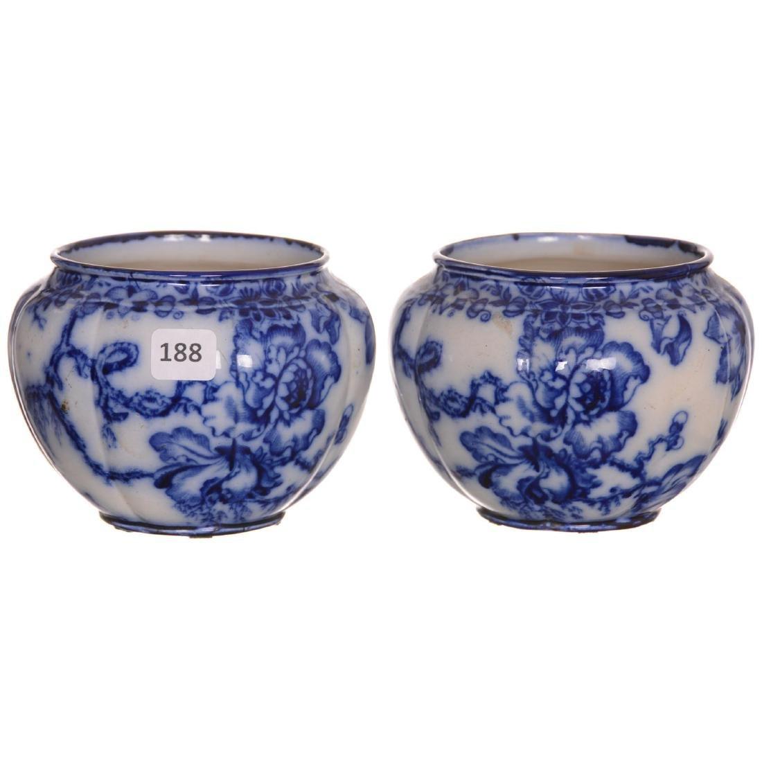 (2) Flow Blue Vases