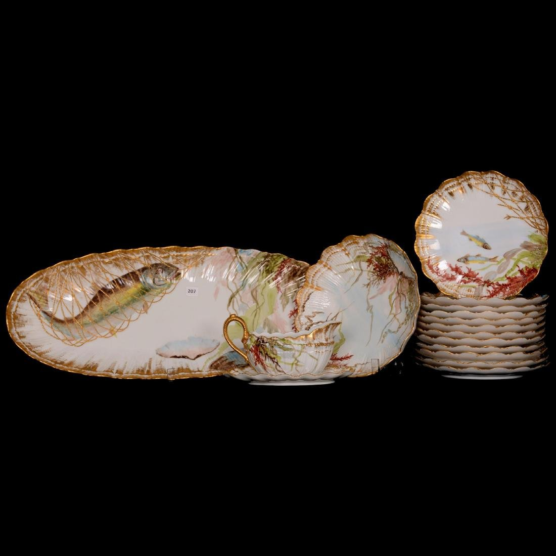 Fantastic Limoges Fish Set