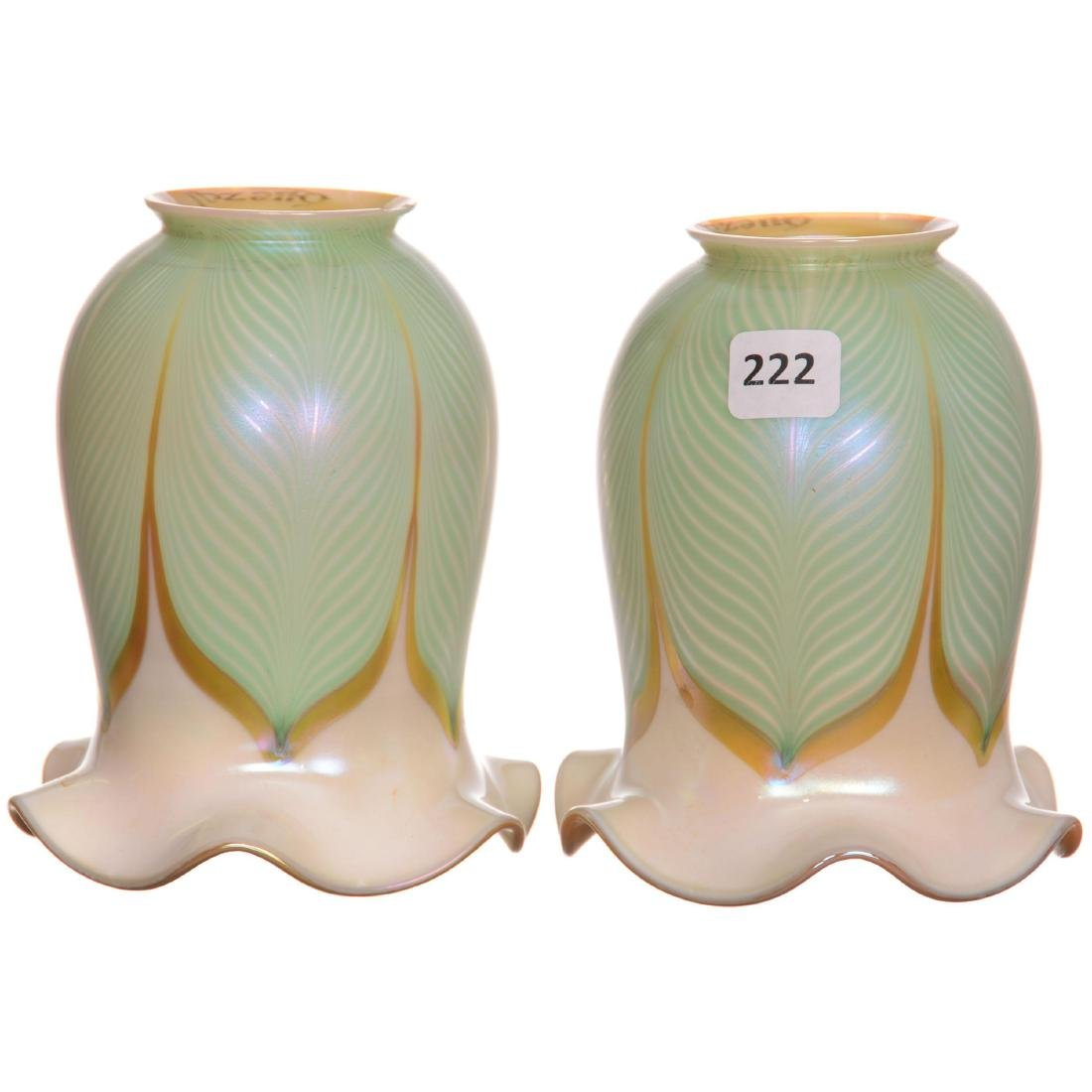 (2) Art Glass Lamp Shades