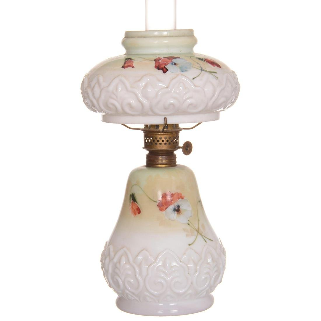 Miniature Art Glass Lamp