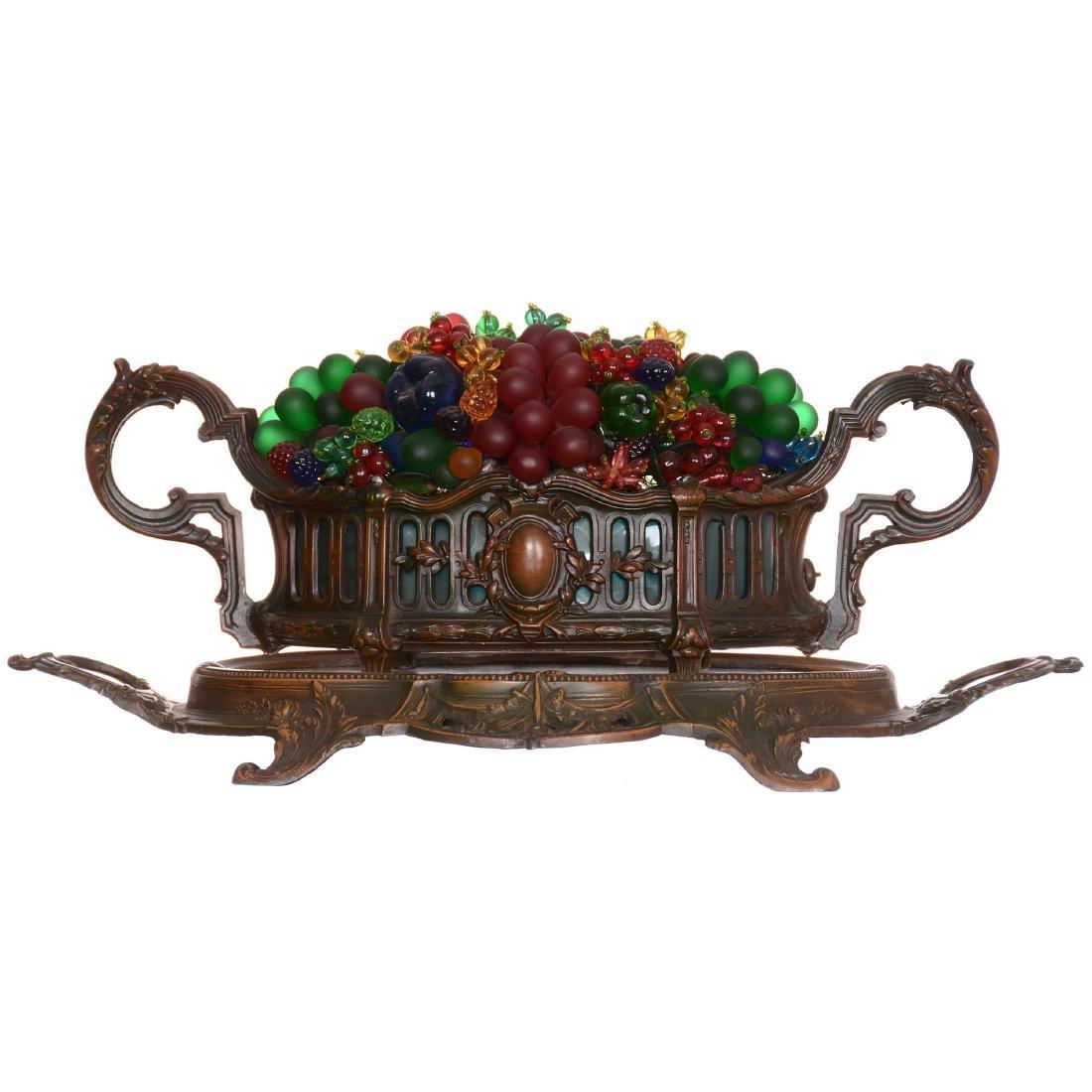 Figural Fruit Basket Lamp