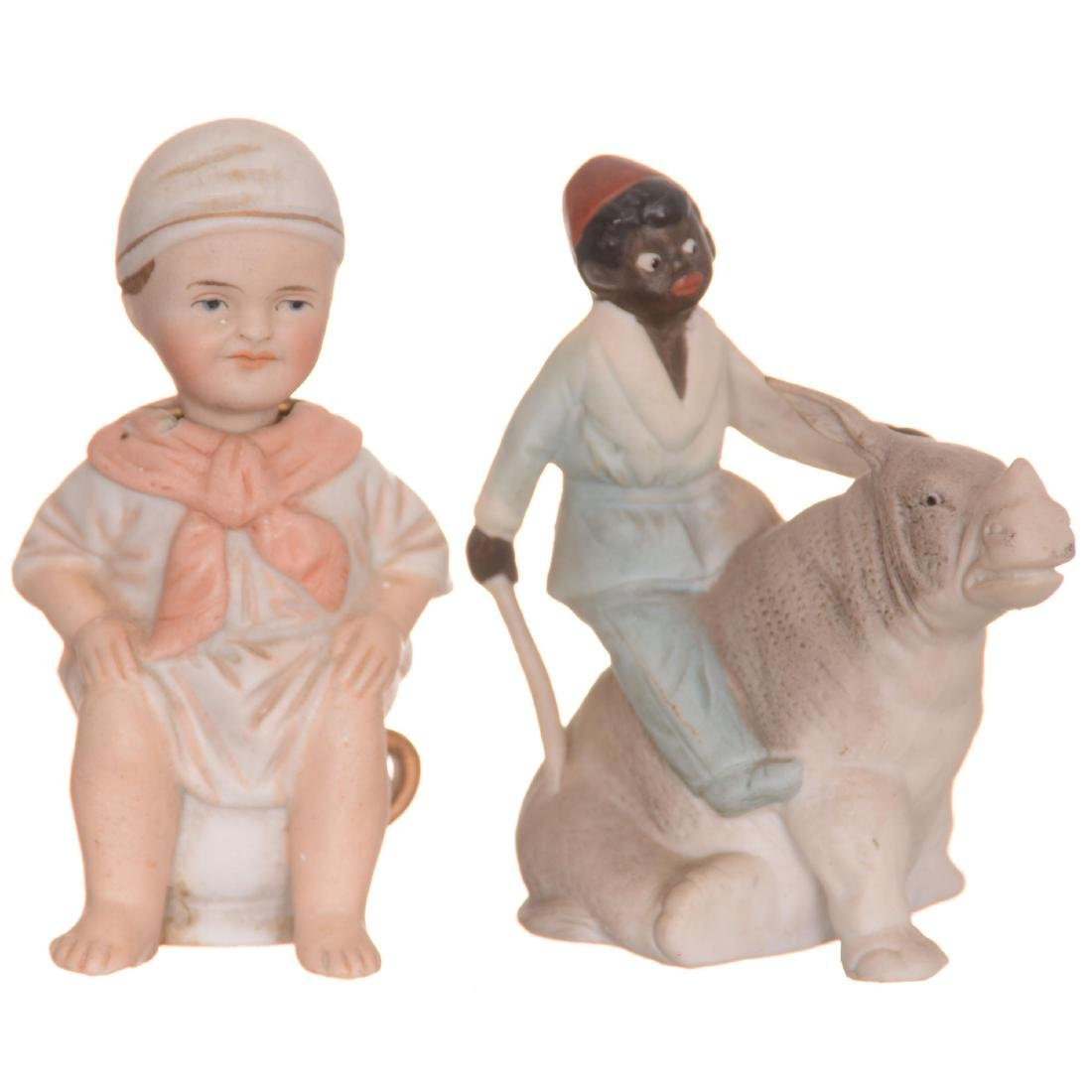 (2) Bisque Figurines