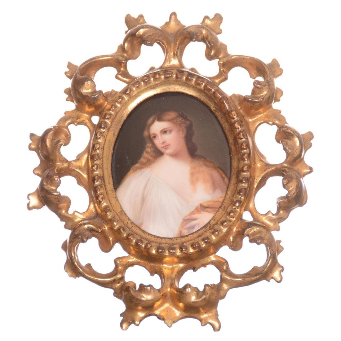German Handpainted Porcelain Plaque