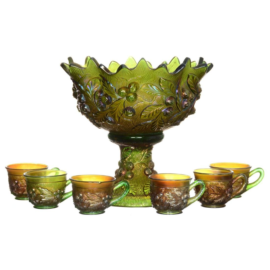 Carnival Glass Punch Set