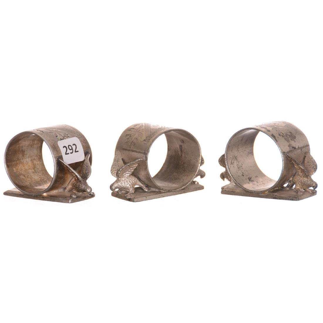 (3) Silverplate Napkin Rings