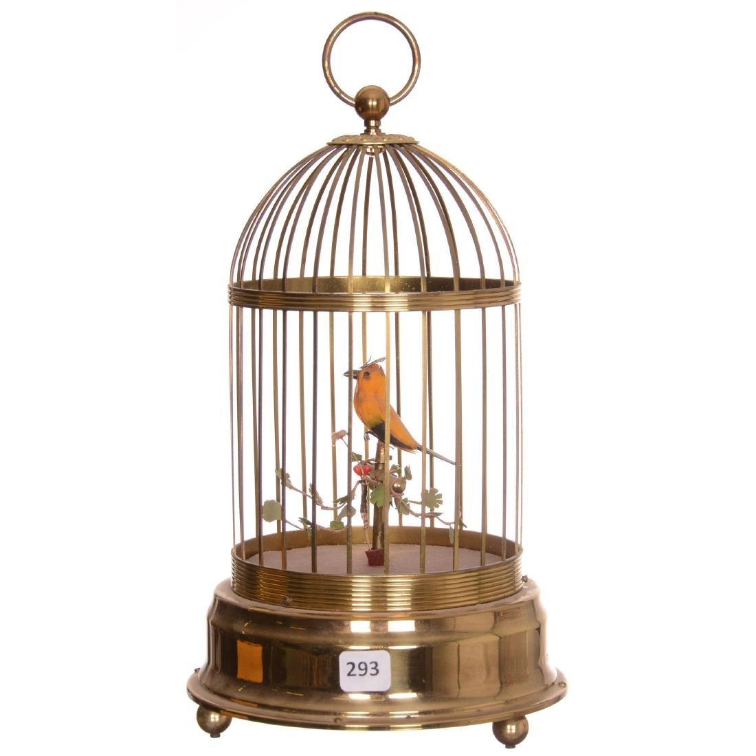 German Wind-Up Musical Bird Cage