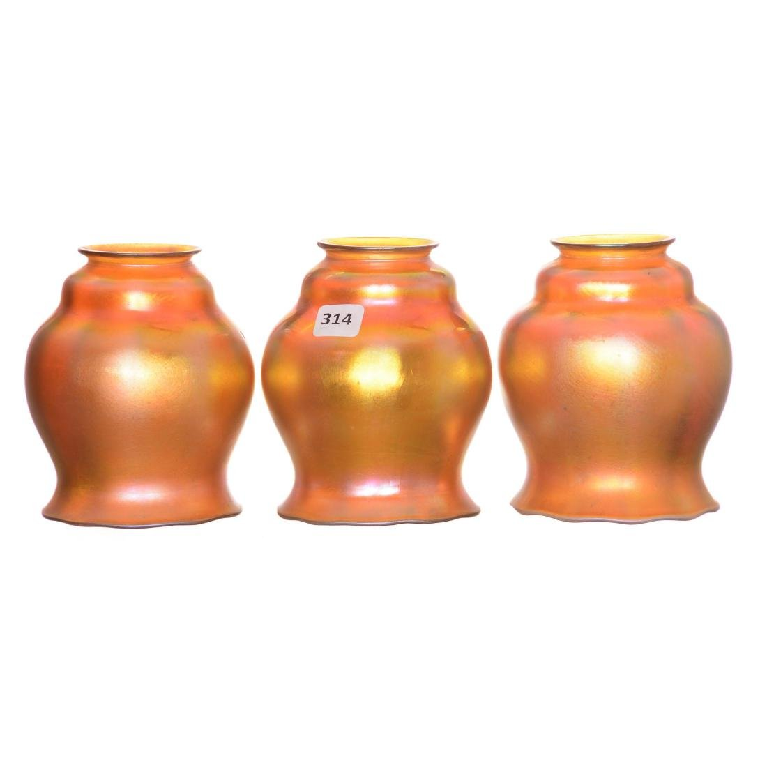 (3) Art Glass Lamp Shades