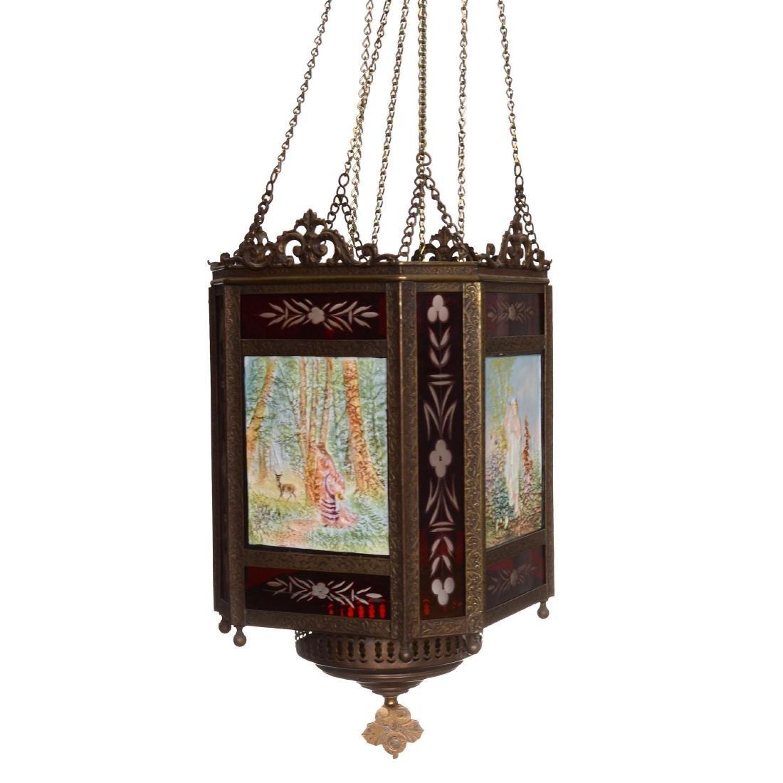 Hanging Hall Lithopane Light Fixture