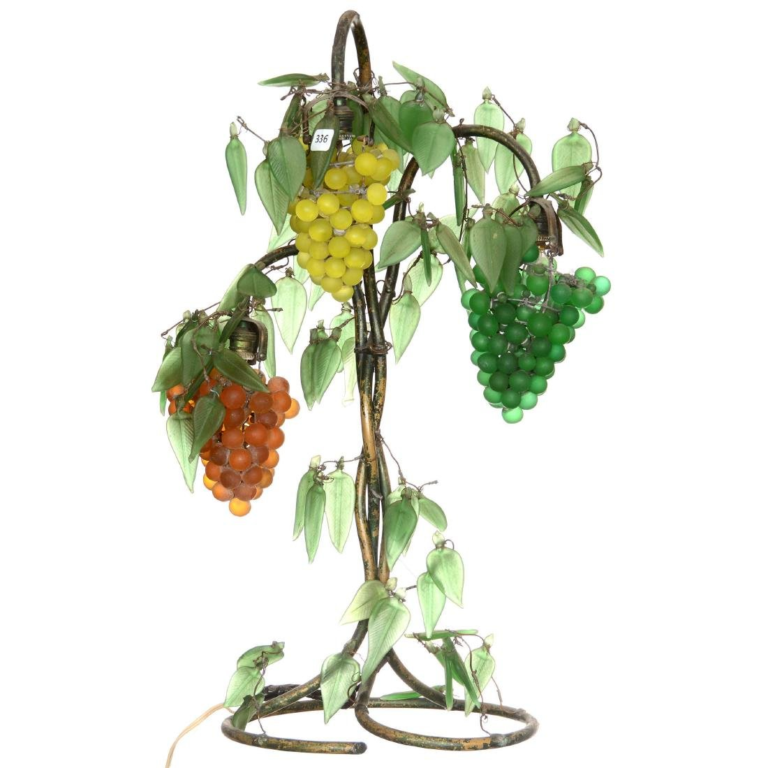 Figural Glass Fruit Table Lamp