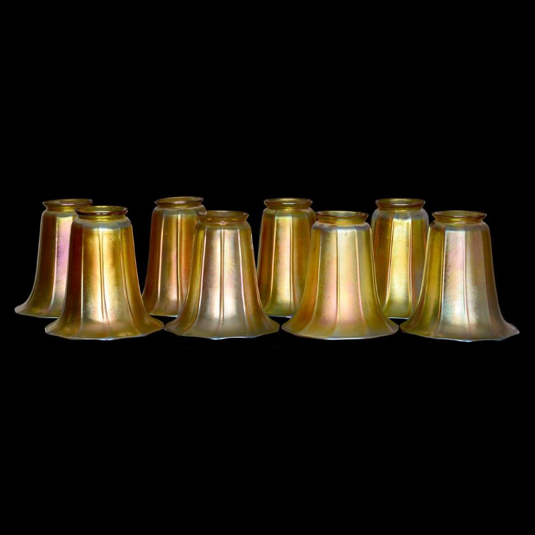 (8) Art Glass Lamp Shades