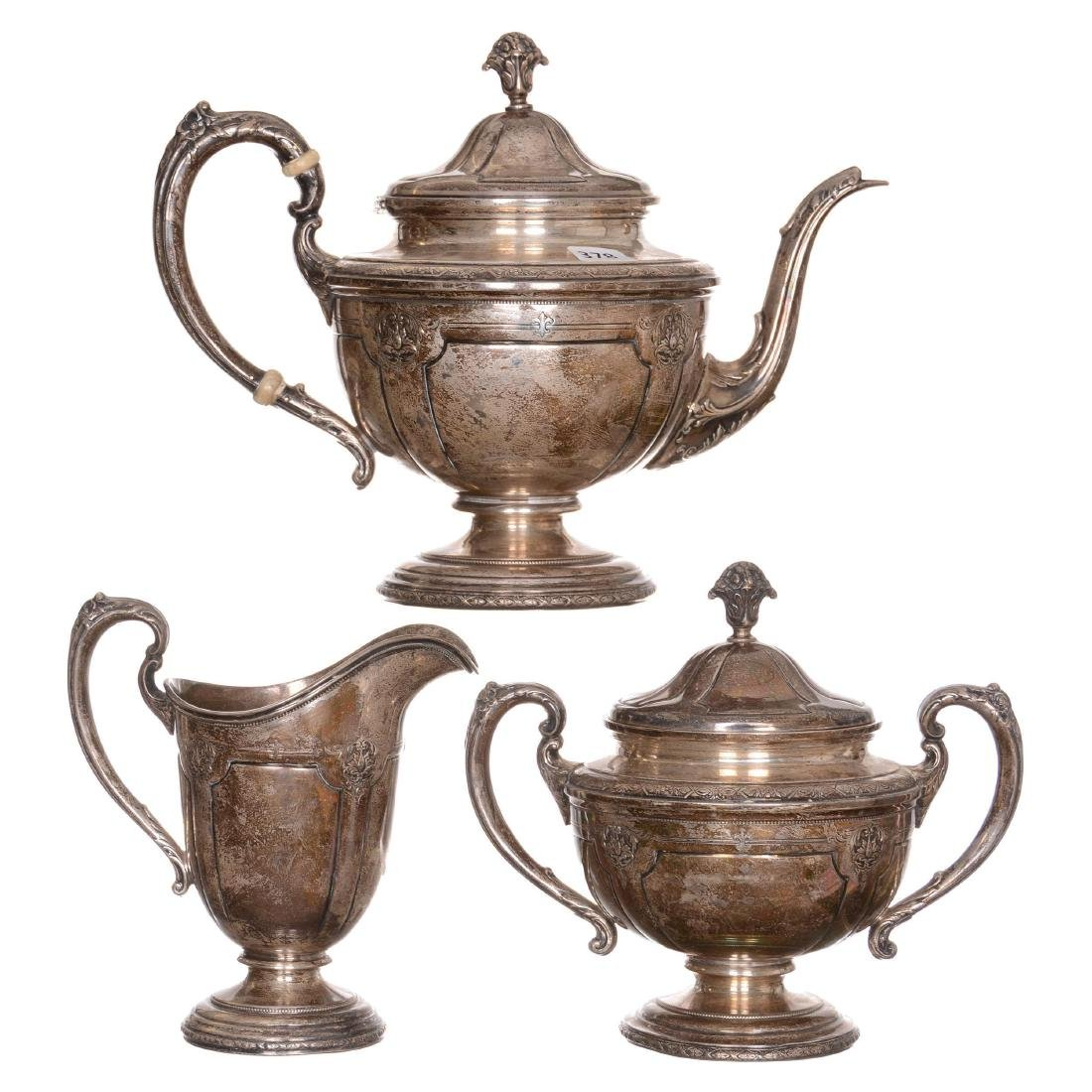 Three Piece Sterling Tea Service