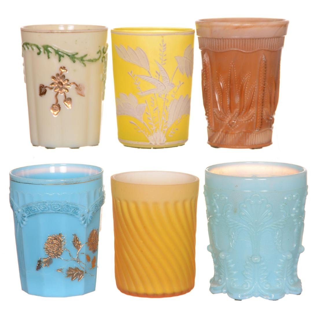 (6) Art Glass Tumblers