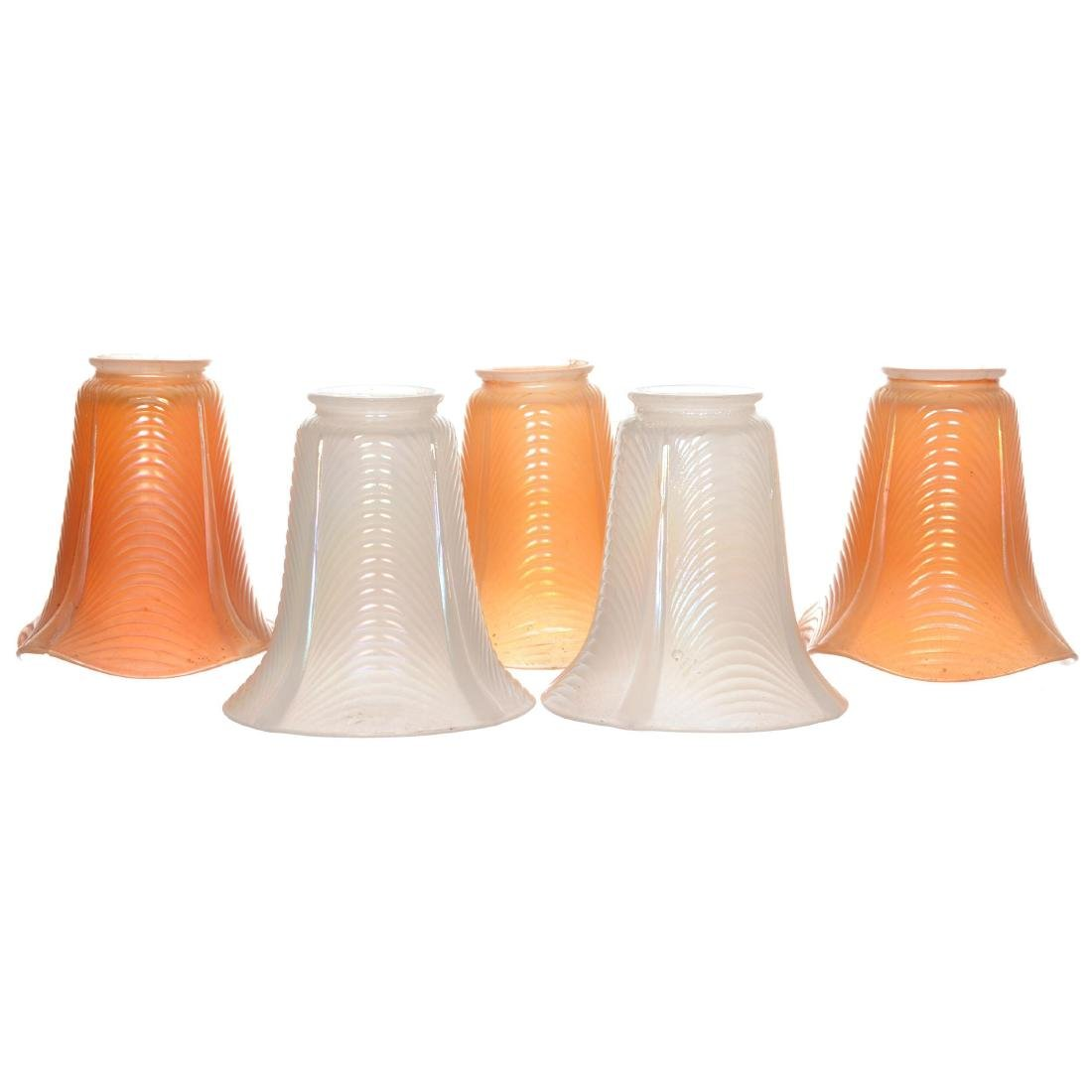 (5) Carnival Glass Lamp Shades