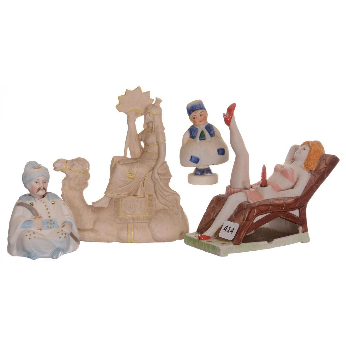 (4) Figural Bisque Items