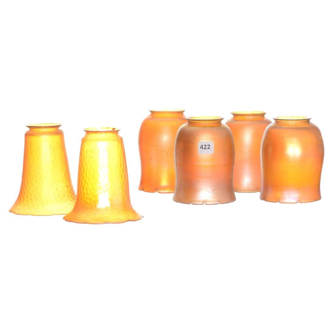 (6) Art Glass Lamp Shades