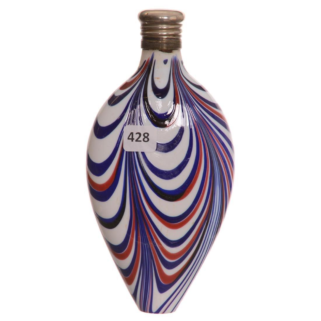 Art Glass Nailsea Flask
