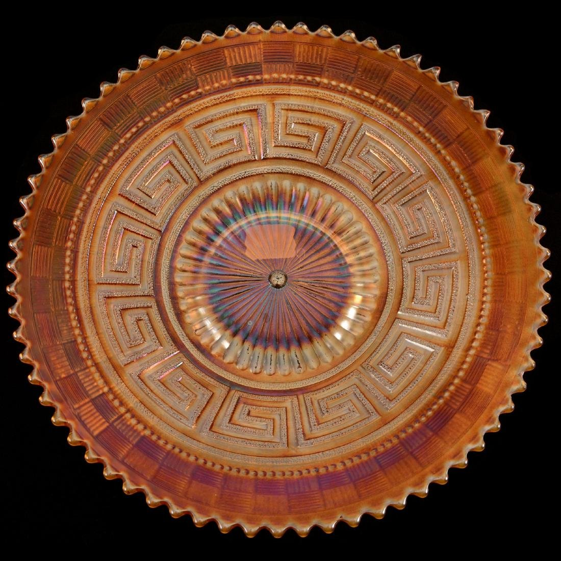 "Carnival Glass Plate - 9"""
