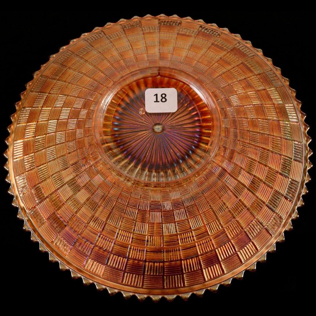 "Carnival Glass Plate - 9"" - 2"