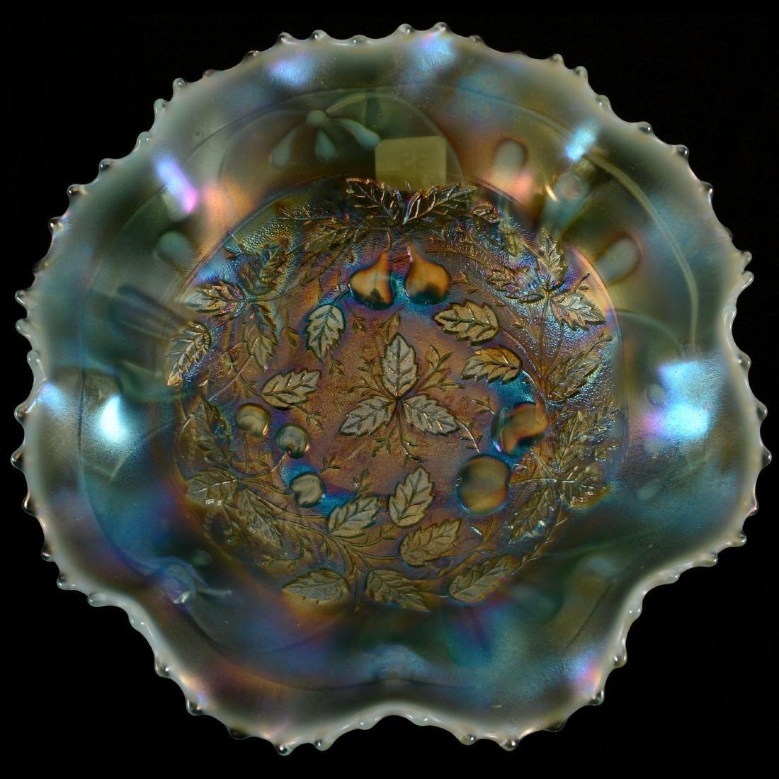 "Carnival Glass Spatula Foot Bowl - 9"""