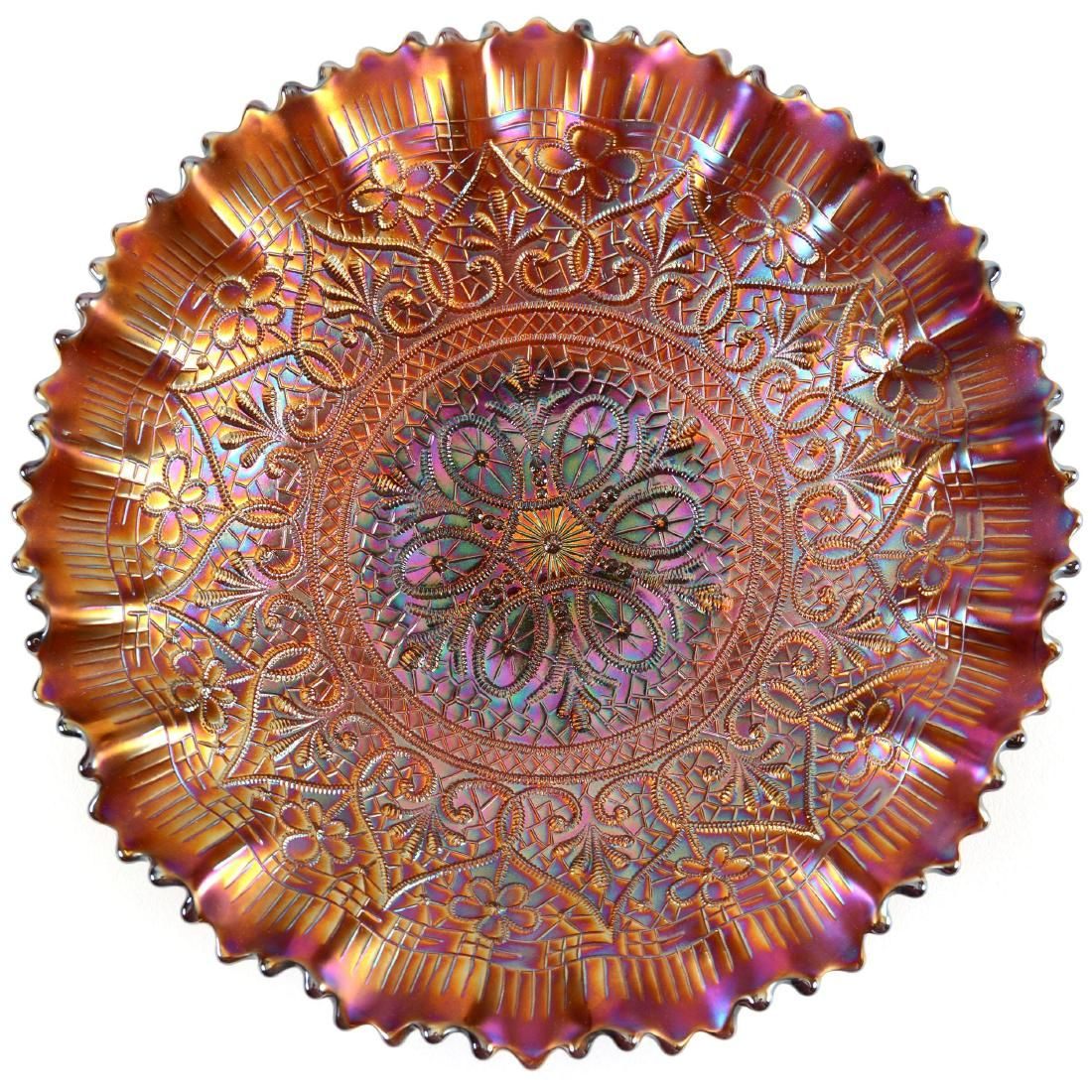 Carnival Glass Bowl - 8.5""