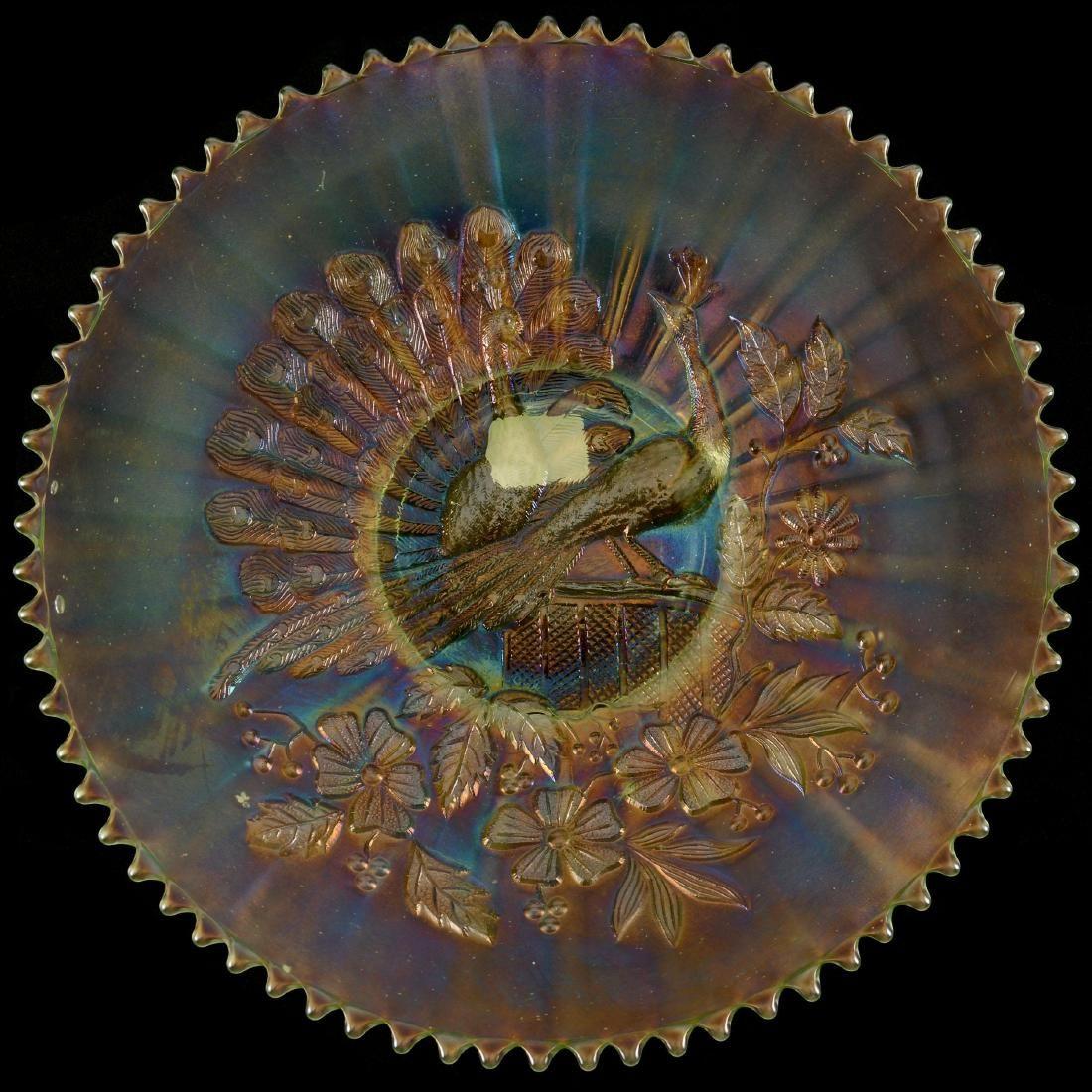 "Carnival Glass Plate - 9.25"""