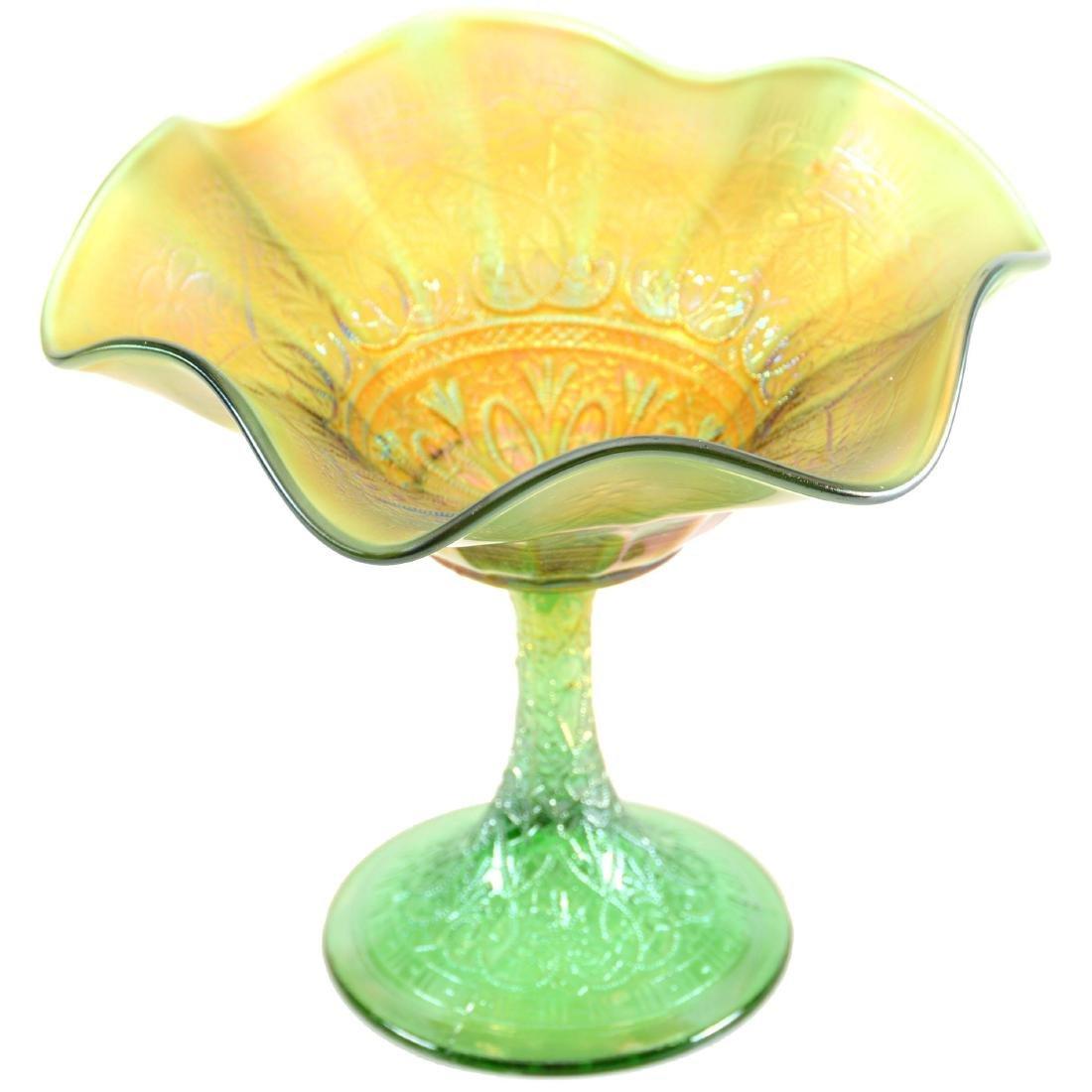 """Carnival Glass Compote - 6"""""""