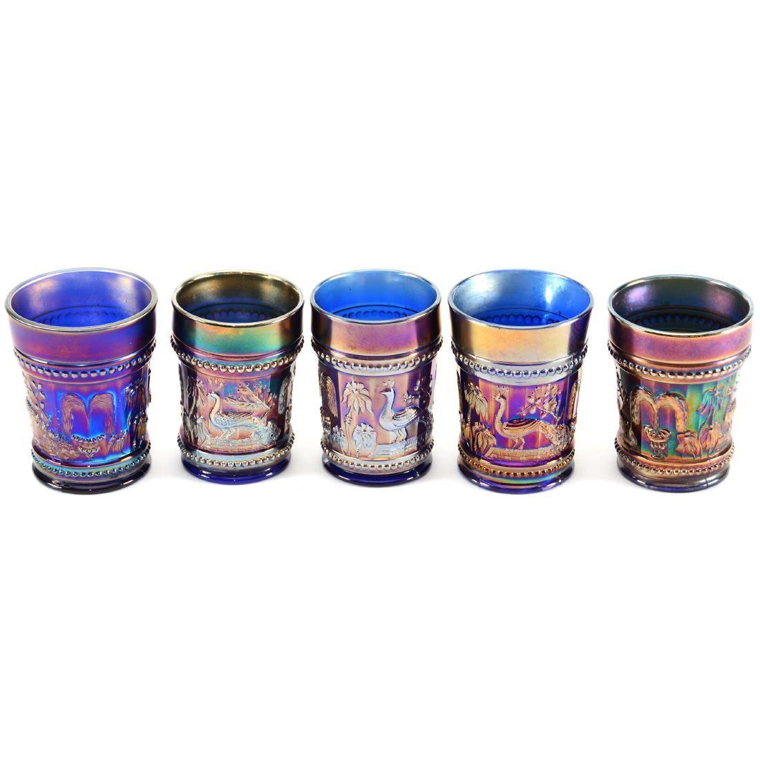 Carnival Glass (5) Tumblers