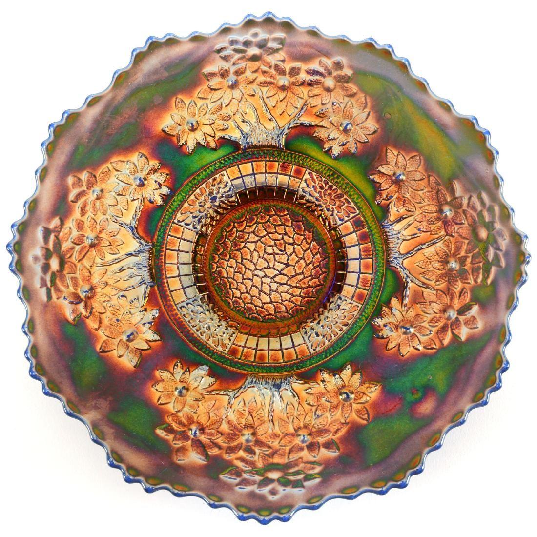 "Carnival Glass Plate - 9.5"""