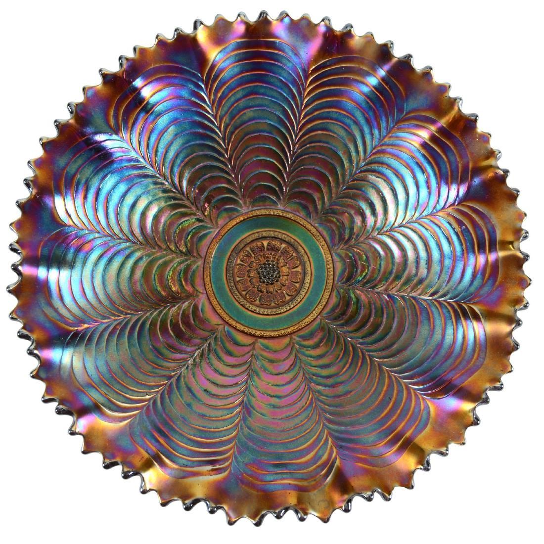 "Carnival Glass Bowl - 9"""