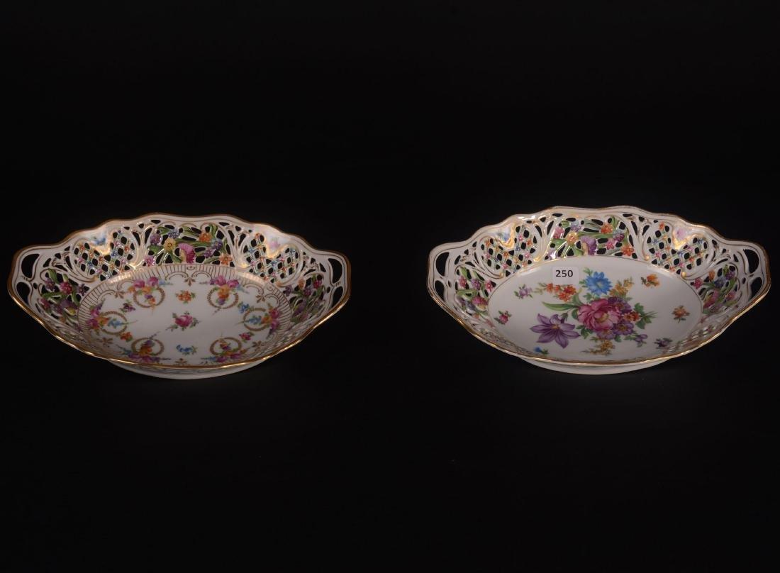 (2) Schumann Bavaria Chateau Pattern Oval Bowls