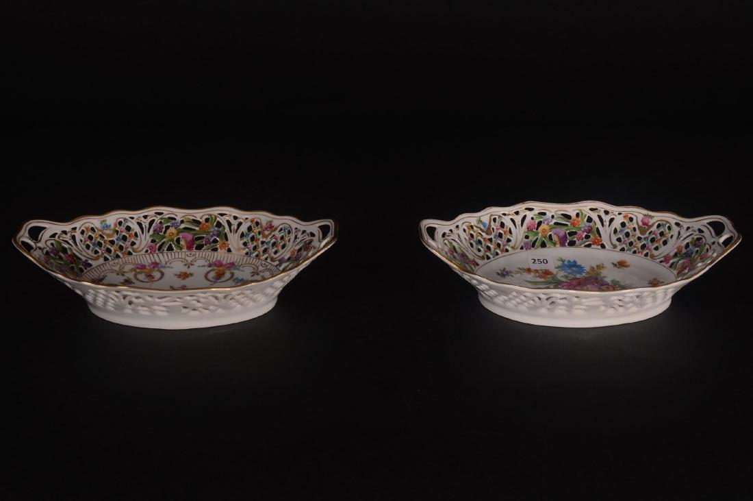 (2) Schumann Bavaria Chateau Pattern Oval Bowls - 2