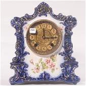 "Porcelain Mantel Clock - 11.75""X 10""- Royal Bonn Style"