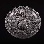 Flat Bottom Bowl  American Brilliant Cut Glass  225