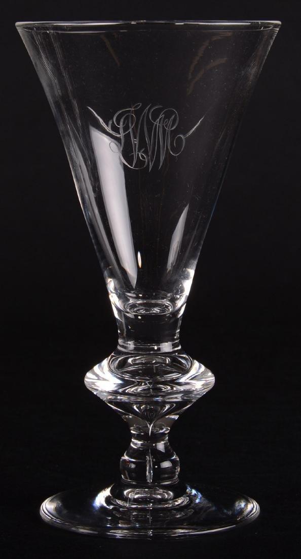 """(12) Water Goblets - Signed Steuben - 7.25"""" - 8"""