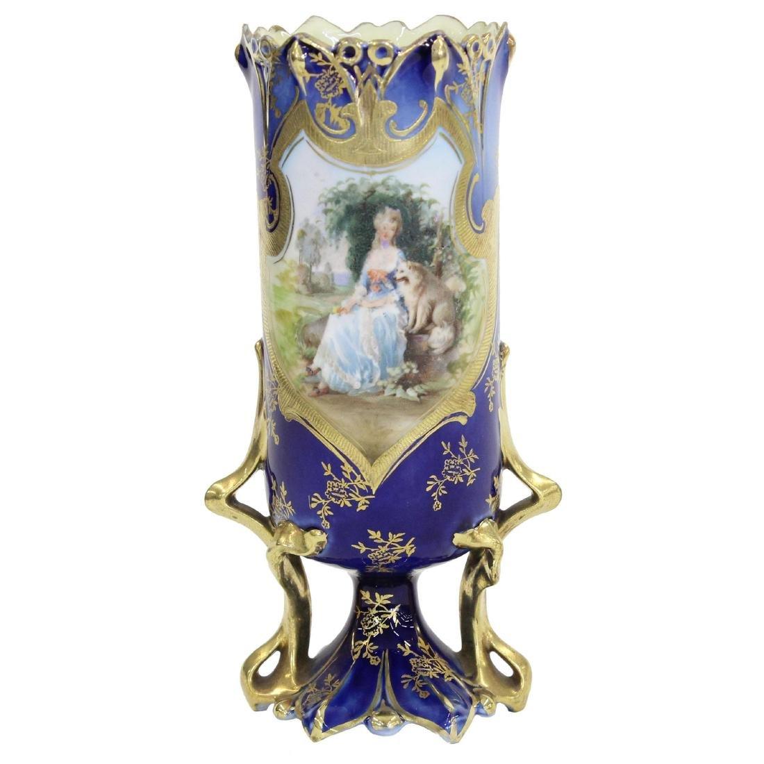 "Pedestal Vase - Royal Vienna Mark - 7"""